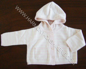 Babies′ Cashmere Cardigan With Hoodie pictures & photos
