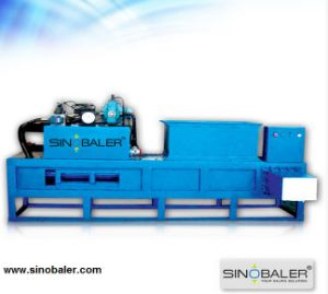 Hydraulic Horizontal Baling and Bagging Press for Wood Chips