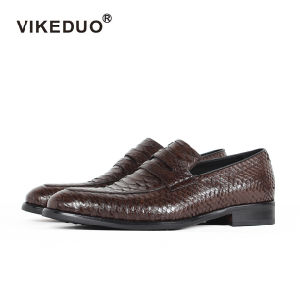 China Vikeduo New Italy Design Custom Latest Casual Loafer Shoes