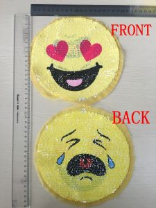 Hot Sale Double Face Sequin Patch for Garment pictures & photos
