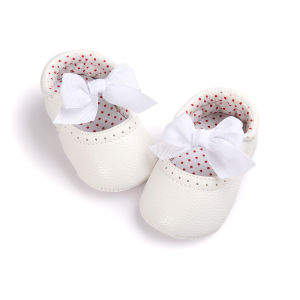 Toddler Baby Girls Boy′s Sneaker Soft Sole Bow Shoes pictures & photos