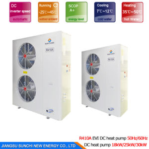 Hotel, School Heating Save70% Power Cop5.32 12kw, 19kw, 35kw, 70kw, 105kw 380V Outlet 60deg. C TUV Certificated Heat Pump Water Heater pictures & photos