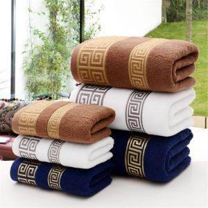 Aliexpress.com : Buy GGGGGO HOME,100% cotton fabric Fashion letter  embroidery design face towel/bath towel/towel set for home/5 stars hotel  from Reliable ...