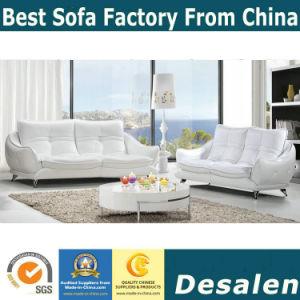 White Modern Design Leather Sofa, Factory Price Good Quality (621)