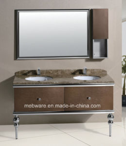 Double Sink Stainless Steel Bathroom