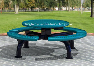 Park Bench, Picnic Table, Cast Iron Feet Wooden Bench, Park Furniture FT-Pb051