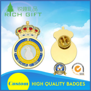 Custom Design Metal Bar Pin Clip Coin Badge with Soft/Hard/Imitation Hard Enamel pictures & photos
