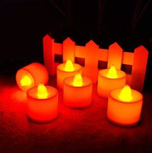 White Solar Pillar Candles Lights for Bar Village Floor Christmas Decorative pictures & photos