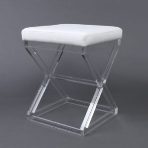Wholesale Modern Clear Acrylic Vanity Folding Kitchen Stool