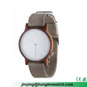 OEM Cuff-Leather Band Wood Watches Red Sandalwood Watches pictures & photos