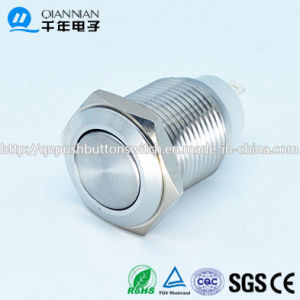 16mm 1no Self-Locking Flat IP67 Stainless steel IP67 Push Button Switch pictures & photos