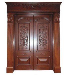 Villa Luxury Front Doors Entry Solid Wood Double Door
