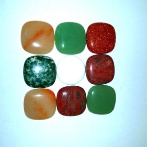Semi Precious Stone Fashion Square Cabochon Setting Stone Jewelry pictures & photos