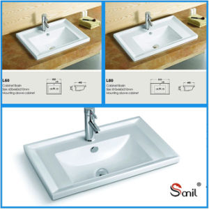 Two Sizes Special Price Bathroom Porcelain Vanity Top Sink S5510