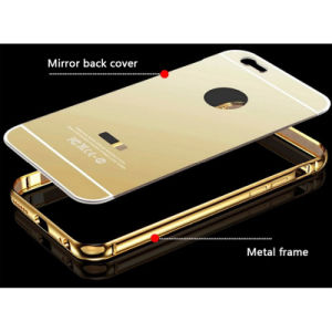 Factory Price Electroplate Mirror Phone Cover/Case with Metal Frame