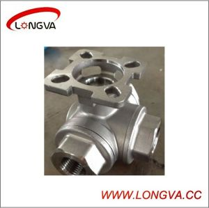 Stainless Steel 3ways Ball Valve with High Mounting Pad pictures & photos