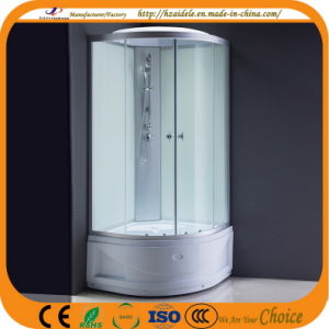 High Tray White Glass Shower Cabin (ADL-8604)
