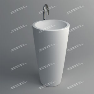 Modern Design Stone Resin Artificial Stone Freestanding Bathroom Mineral Basin (JZ2010)