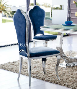 High Gloss Modern Stainless Steel Base Dining Chair Home Furniture pictures & photos