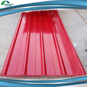 Red Galvanized Steel Corrugated Metal Sheet Roof Panel, Roofing Materials, PPGL Sheet