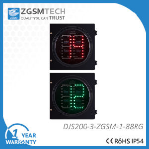 200mm 8 Inch 2 Digital Red Green Timer Traffic Light LED