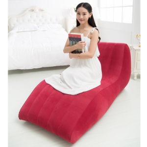 Brilliant Single Layer Quick Inflatable Lounger Portable Air Sofa Air Bed Bralicious Painted Fabric Chair Ideas Braliciousco