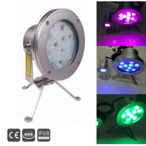 Spot Led Submersible china 9x3w 3in1rgb ip68 submersible led underwater spot light