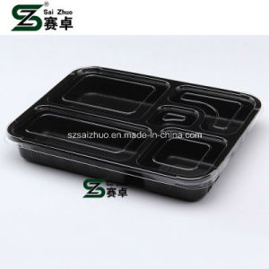 5 Compartment Top Grade Thicken Disposable Plastic Fast Food Container pictures & photos