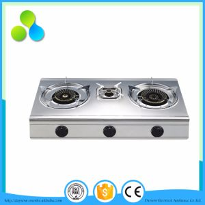 Stainless Steel Table Gas Stove for 3 Burner 100*2+40mm