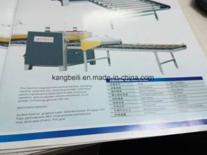 PVC MDF Profile Cold Melt Laminating Machine pictures & photos