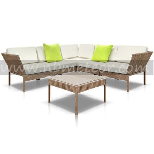 Kd Patio Sofa Set Assembly Garden Sofa Set Outdoor Wicker Sofa Set pictures & photos