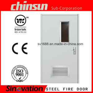 Wh Approved Steel Fire-Proof Door with Vision Panel and Louver