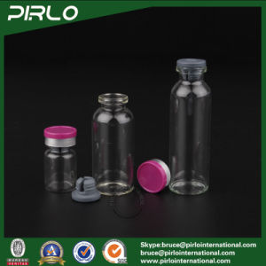 3ml 5ml 10ml 15ml 20ml 25ml 30ml Clear Pharmaceutical Glass Bottle& Flip off Red Cap, Clear Medicine Bottle pictures & photos