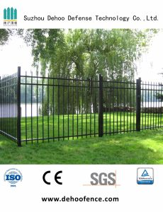 High Black Wrought Iron Graden Fence for Protection and Decoration pictures & photos