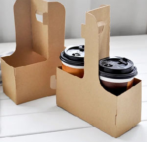 Reusable Eco Kraft Coffee Paper Cup Holder for Takeaway