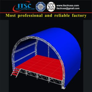Stage Truss with Arc Shape Roof for Outdoor Events