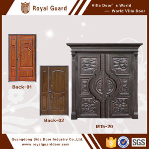 China Front Double Door Designs Simple Grill Design Exterior Interior