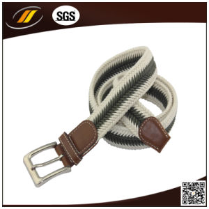 High Quality Cotton Braided Belt with Zinc Alloy Buckle