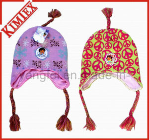 Unisex Acrylic Knitting Jacquard Flap Bomber Hat pictures & photos
