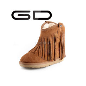 2016 Hot Sale Amouflage Tassel Wedge Snow Boots
