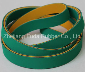 Industrial and Agriclture 28oz 32oz Flat Transmission Belt with Yellow Brown Orange Green and Black Color pictures & photos