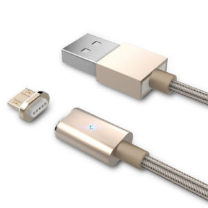 3 in 1 Nylon Insulated 8 Pin Lightning Magnetic USB Cable for Cellphone and Tablets pictures & photos
