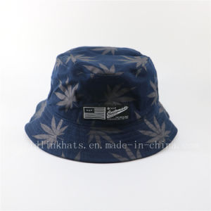 dbf11ece498 China Customized Big Brim Bucket Hat with All Over Screen Printed ...