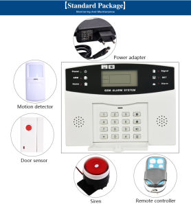 Professional LCD Touch Keypad Auto Dial Wireless GSM Alarm System for Household