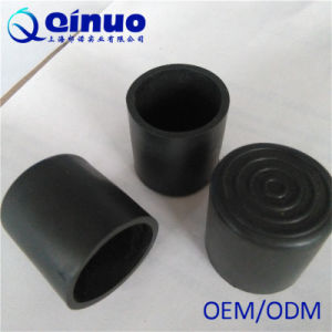 China Qinuo Custom 1 Inch Rubber Furniture Feet Caps With