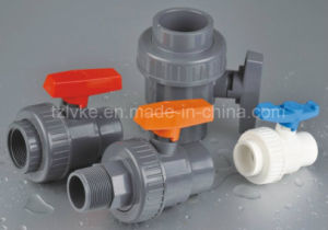 PVC Single Union Ball Valve for Water Treatment with ISO9001 (JIS, CNS) pictures & photos
