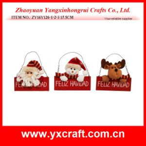 Christmas Decoration (ZY16Y126-1-2-3 17.5CM) Super Xmas Decoration Wood pictures & photos