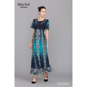 Miss You Ailinna 101972 Slim Long Dress Elegant Dress with High Quality pictures & photos