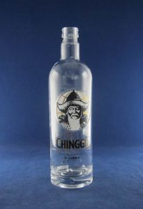 High Flint 750ml Empty Vodka Glass Bottle