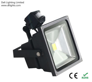 Outdoor High Power 50W LED Floodlight with Motion Senor